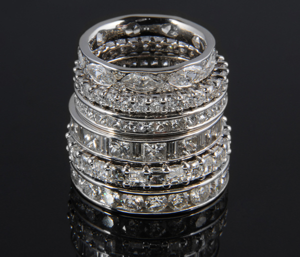 Diamond Set Bands